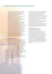 Verfahren Chemische Industrie