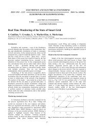 Real Time Monitoring of the State of Smart Grid - Electronics and ...