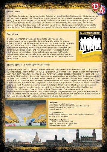 08.05.2010 SG Dynamo Dresden – Wuppertaler SV ... - Rot-Blau.com