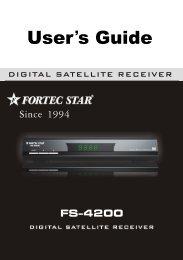 Dowload User-Manual - FortecStar