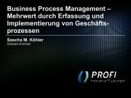 Business Process Management - PROFI Engineering Systems AG