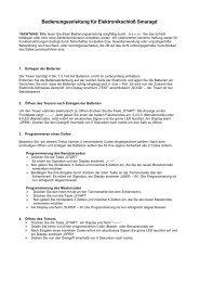 Bedienungsanleitung für Elektronikschloß Smaragd - Rottner Tresore