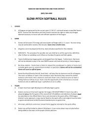 slow-pitch softball rules - Rancho Simi Recreation and Park District