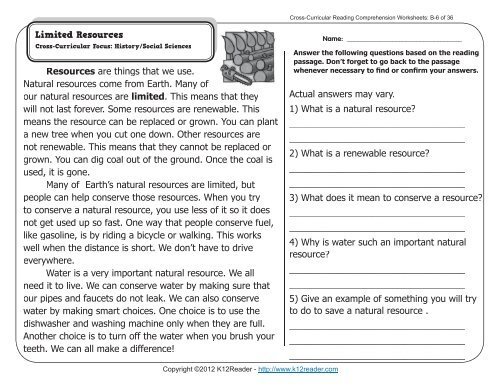 2nd Grade Reading Comprehension Worksheets | Second Grade ...