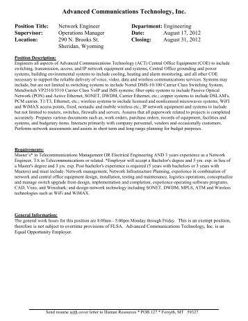 Advanced Communications Technology, Inc.