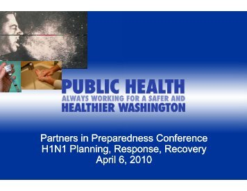 H1N1 Planning/Response/Recovery - WSU Conference Management