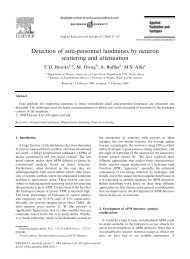 Detection of anti-personnel landmines by neutron scattering and ...