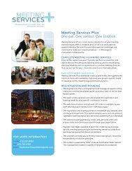 Meeting Services Plus Brochure - Minneapolis