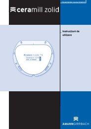 _ Instrucţiuni de utilizare - AmannGirrbach AG
