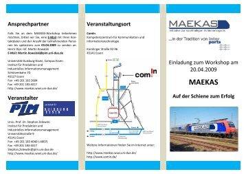 MAEKAS - Institut für Produktion und Industrielles ...