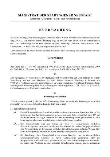 Kundmachung - Stadtgemeinde Wiener Neustadt