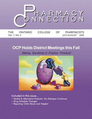 OCP Holds District Meetings this Fall - Ontario College of Pharmacists
