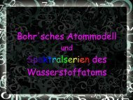 Bohr'sches Atommodell Spektralserien des Wasserstoffatoms