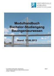 Modulhandbuch Bachelor-Studiengang Bauingenieurwesen
