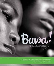 Sex and HealtH - Open Society Initiative of Southern Africa (OSISA)