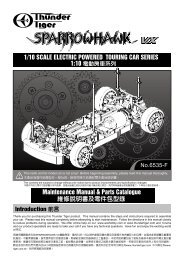 Thunder Tiger RC Car Parts  Shock Cap PD8088-1