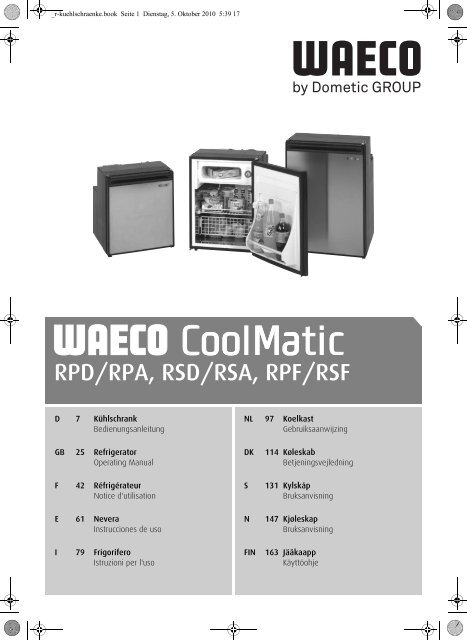Coolmatic Rpd 110 manual