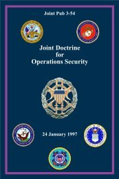 Joint Doctrine for Operations Security - IWS - The Information ...