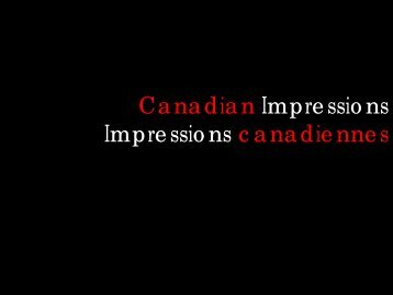 Canadian Impressions Impressions canadiennes - CSLA :: AAPC