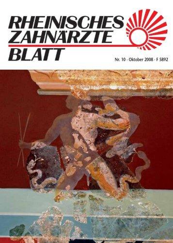 Rheinisches Zahnärzteblatt 10/2008 - Zahnärztekammer Nordrhein
