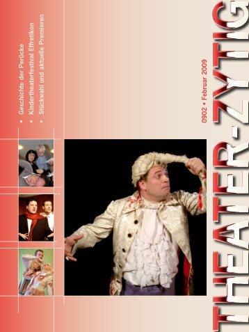 Stückwahl und aktuelle Premieren 0902 • Februar 2009 - Theater-Zytig