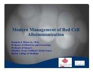 Modern Management of Red Cell g Alloimmunization - Society for ...