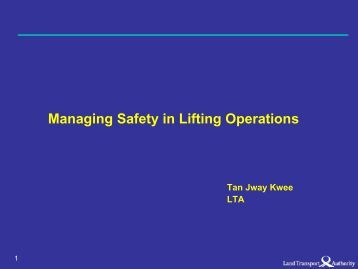 Managing Safety in Lifting Operations