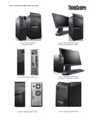 Lenovo ThinkCentre M81 Small and Tower - PROconsult Data A/S