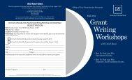 university of nevada, reno Faculty Grant Writing Workshops