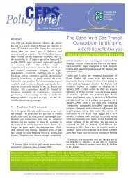 The Case for a Gas Transit Consortium in Ukraine: - The Centre for ...