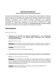 Bachelorarbeitsthemen