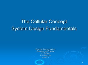 Chapter 3. Cellular Concept