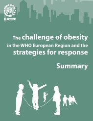 The challenge of obesity strategies for response ... - overgewicht.org