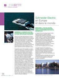 Schneider Electric en Europe et dans le monde 14