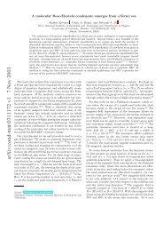 arXiv:cond-mat/0311172 v1 7 Nov 2003 - Department of Physics