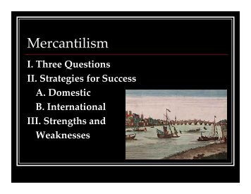 Mercantilism - Rose-Hulman