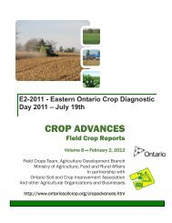 CROP ADVANCES - Ontario Soil and Crop Improvement Association