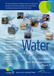 Water: a shared responsibility, the United ... - unesdoc - Unesco
