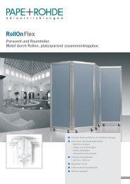 Prospekt Stellwand RollOnFlex - Pape+Rohde