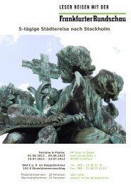 5-tägige Städtereise nach Stockholm