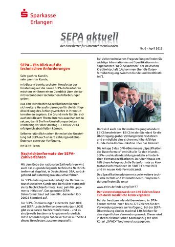 SEPA - Sparkasse Erlangen