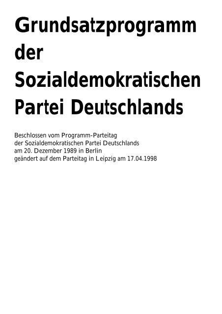 """""""Berliner Programm"""" der SPD - SPD-Landesverband Sachsen-Anhalt"""