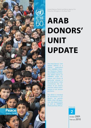 Arab Donors Unit Update 2 - Unrwa