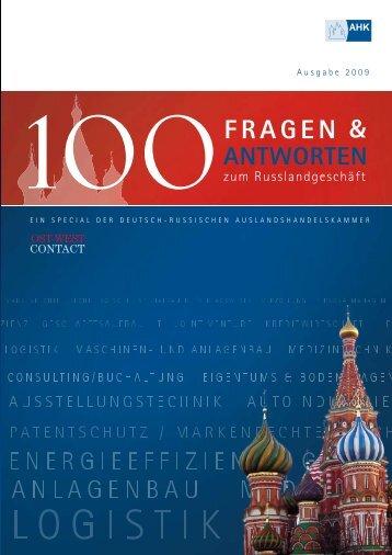 100 Fragen & Antworten zum Russlandgeschäft ... - Rufil Consulting