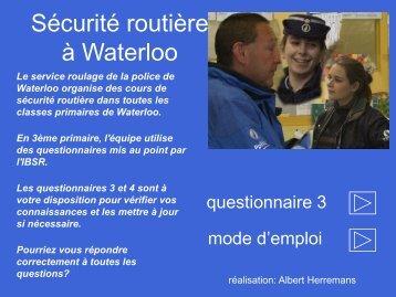 ( 3ème primaire) - Questionnaire 3.pdf - Waterloo