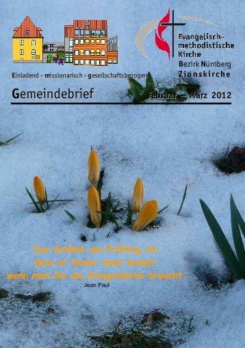 Gemeindebrief Feb-Mar 2012 - Zionsgemeinde