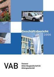 Geschäftsbericht 2006 - VAB Viersen