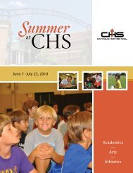 the 2010 Summer at CHS Brochure. - Catholic High School