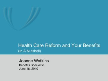 Presentation from the June 2010 Employee Forums - UNMC