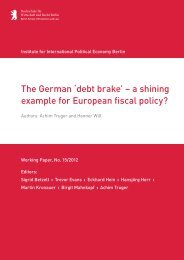 The German 'debt brake' – a shining example for ... - IPE Berlin